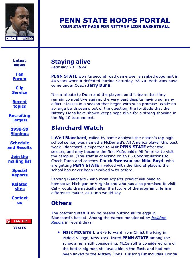Penn State Hoops Portal